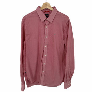 Victorinox Tailored Fit Red Stripe Button Shirt XL